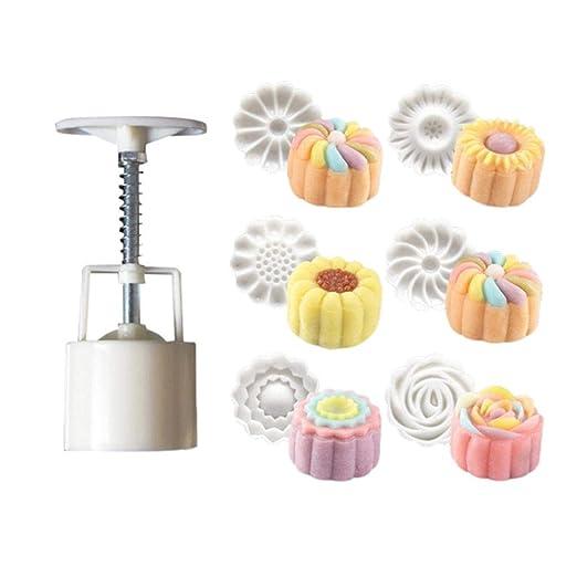Molde con 6/sellos/para decorar tartas 50/g dise/ños de flores