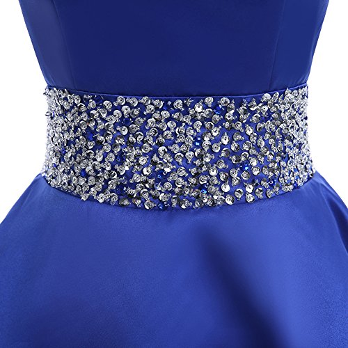 92d6888cc5a durable service MEILISAY Meilishuo Womens Crew Beading Prom Dresses Short  Sequiuned Homecoming Dresses for Teens Mini