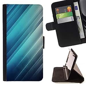 Momo Phone Case / Flip Funda de Cuero Case Cover - Reflexión de la luz azul Rayas Líneas - Samsung Galaxy J3 GSM-J300