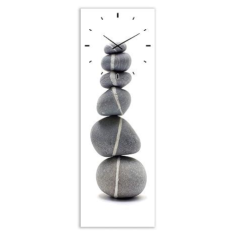Reloj de Pared de Cristal Gris Moderno para salón Sol Naciente - LOLAhome