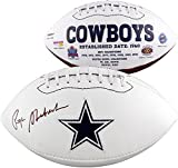 Roger Staubach Dallas Cowboys Autographed White Panel Football - Fanatics Authentic Certified - Autographed Footballs