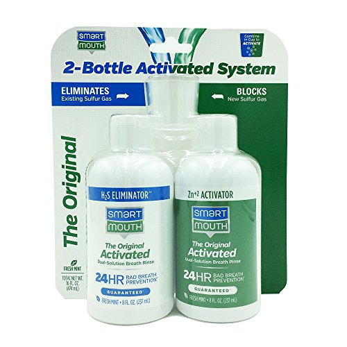 SmartMouth Original Mouthwash 16oz 2-Bottle Activated System for 24-Hour Bad Breath ()