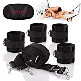 Under The Bed Restraints Bed bondageromance Straps Sex Play Adjustable Soft Comfortable Wrist Ankle Handcuffs Fits Almost Any Size Mattress