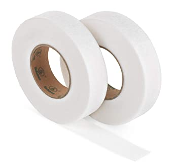 Iron-on Fusible Hemming Fusing Wonder Web Tape Double Side Adhesive Iron On No Sew Hem Webbing Tape with 2 Soft Tape Measures for Jeans Trousers BHAHAI 4 Pack 280 Yards Fabric Fusing Tape