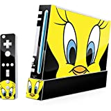 Looney Tunes Wii (Includes 1 Controller) Skin - Tweety Bird Vinyl Decal Skin For Your Wii (Includes 1 Controller)