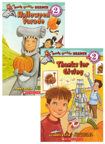 Ready, Freddy! Reader 2 Book Set (Halloween Parade, Thanks for Giving) (Scholastic Reader: Ready, Freddy! Reader, 3 & 4) -