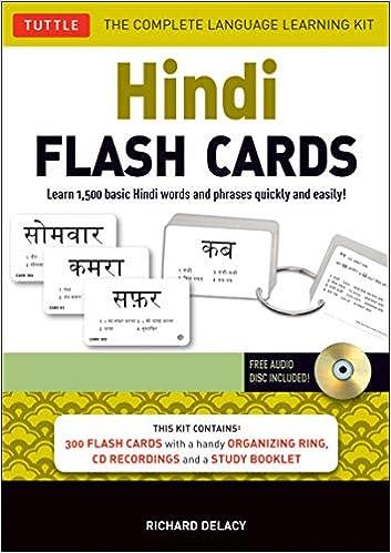 Amazon com: Hindi Flash Cards Kit: Learn 1,500 basic Hindi