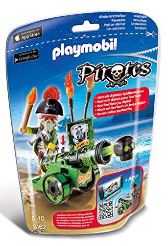 PLAYMOBIL Green Interactive Cannon with Pirate Captain ()