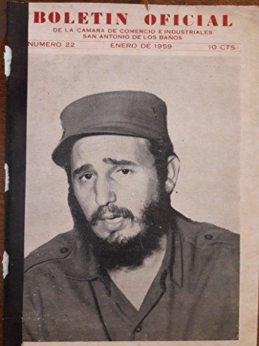 Boletin oficial,de la camara de comercio e industriales de san antonio de los banos,cuba,enero de 1959.
