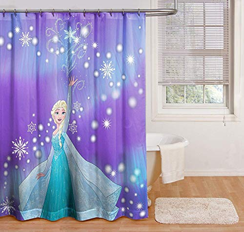 Belle Curtain Hooks Shower - Disney Frozen Snowflake Shower Curtain