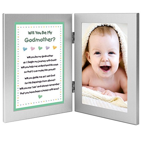 Amazon.com : Will You Be My Godmother? Keepsake Frame - Add Baby ...