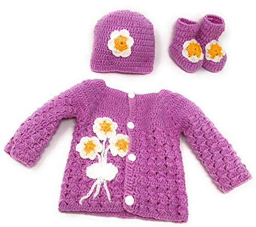Crochet Flower Sweater - 4