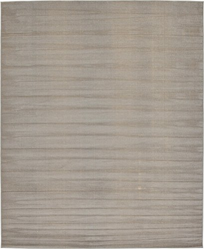 (Unique Loom Williamsburg Collection Low Pile Height Modern Solid Gray Area Rug (8' x 10'))