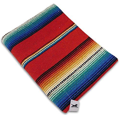 Serape Style Falsa Blanket. Classic Mexican Style Serape Pat