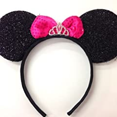 Sparkle and shine in the Disney Parks with this Princess Minnie Mouse inspired Headband Ears. These ears are an absolutely must have for you and your little one. Very comfortable to wear. Crown is made of metal adorned with rhinestones. *One ...