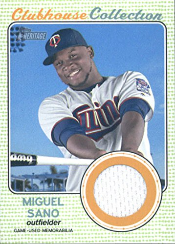 2017 Topps Heritage Clubhouse Collection Relics #CCR-MS Miguel Sano Minnesota Twins Baseball Card ()