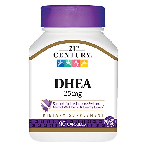 21st Century DHEA 25 mg Capsules, 90 Count For Sale