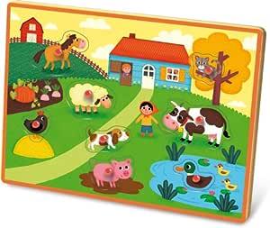 Vilac 4625 - Puzzle encajable Musical, diseño de Animales