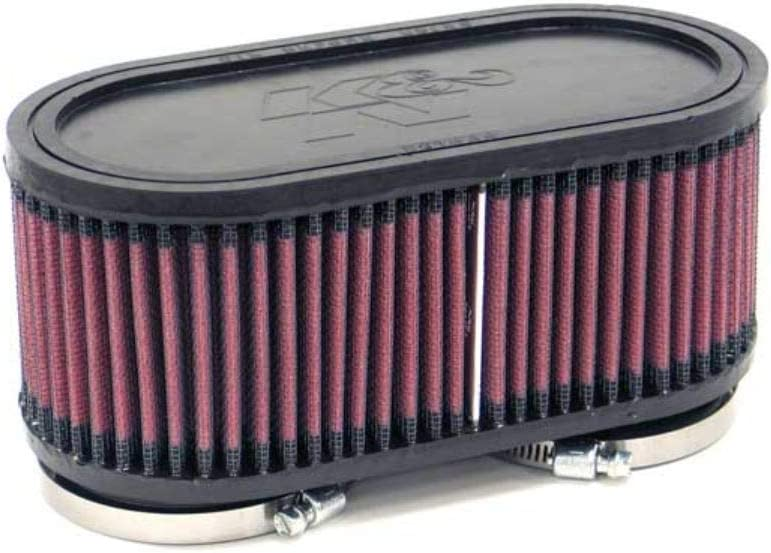 K&N Universal Clamp-On Air Filter: High Performance, Premium, Washable, Replacement Engine Filter: Flange Diameter: 2.375 In, Filter Height: 3 In, Flange Length: 0.625 In, Shape: Oval, RU-2970