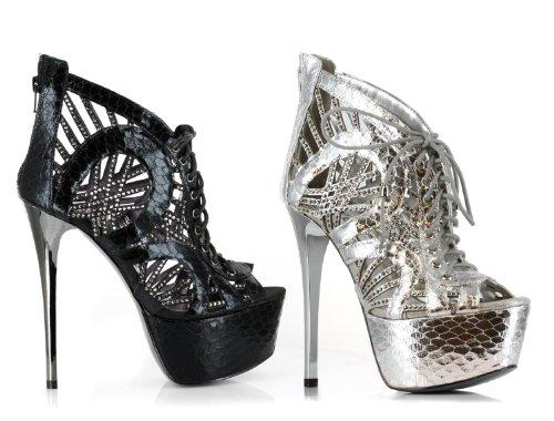 Black Multi Toe Contrasting With Peep Trim 6 Inch 6f0Aq5nz