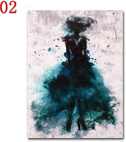 Impresionismo moderno Hd Art Print Nordic Poster Cuadro de la pared Acuarela Vestido Lienzo Pintura Al Óleo Restaurante Restaurante Decoración