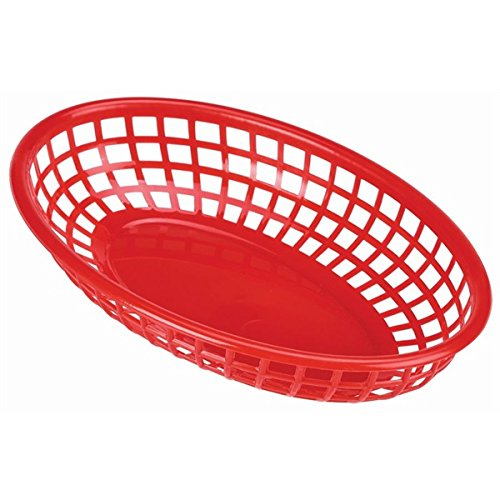 Fast Food Basket Red 23.5X15.4cm - Quantity 6 Genware