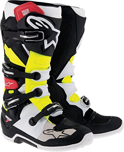 Alpinestars Tech 7 Mens Black/Red/Yellow Motocross Boots - 11