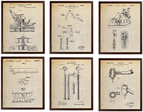 Turnip Designs Dentist Chair Probe Dental Mouth Mirror Drill Implant Abutment Patent Poster Dental Office Decor Dentist Gift TDP419