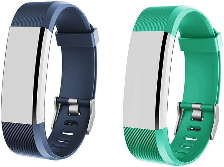 Slim Smart Wristbands Not for ID115//ID115U Adjustable Replacement Straps for ID115 HR Plus Heckia ID115 HR Plus Fitness Tracker Bands Blue and Red