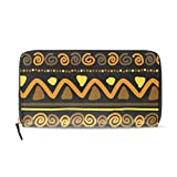 Womens Zipper Wallet Africa Art Culture Mr Paisley Clutch Purse Card Holder Bag