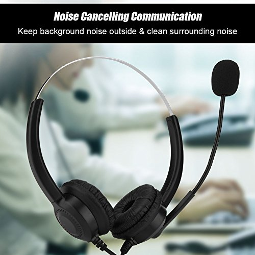 USB Skype Headset, Hands-Free Noise Cancelling Binaural Headset with Microphone & Mute Button,Earmuffs Support 360°Rotation for Chat, Call Center, Online Conference, Webcam, Music, Mac PC Cellphone by Eboxer (Image #4)