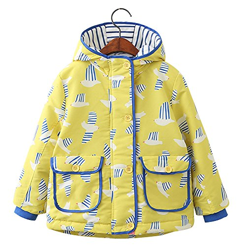 STIME Baby Girl Autumn Winter Printing Pattern Jacket Outwear Coat With Hoodie
