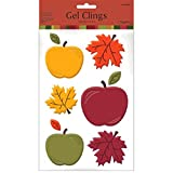 Amscan Autumn Harvest Thanksgiving Party Apples Gel Clings Decoration, Gel, Pack of 6 Decorations