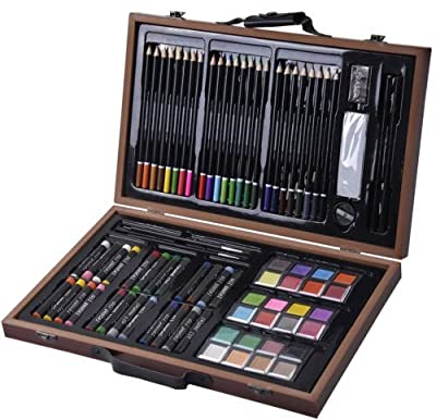 Deluxe 80 Pieces Sketch and Drawing Pencil Set Kit / Art Materials Portraits Draw Painting Pencil Colored Professional Photo Beginners Drafting Graphic Designer Easy Sketchbook Pens Picture Sticks Pastel Stuff Supplies Birthday Gift Item Shop Store Buy Ge