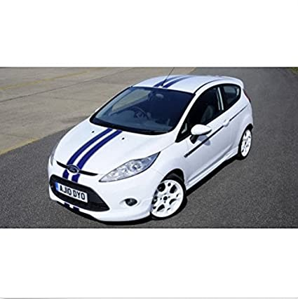Ford Fiesta Racing Stripes decal set bonnet roof side S1600 Limited Edition (dark blue)