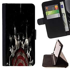 - cool target fear black dark - - Prima caja de la PU billetera de cuero con ranuras para tarjetas, efectivo desmontable correa para l Funny HouseFOR Samsung Galaxy Note 3 III