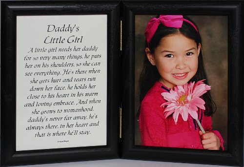 Amazoncom 5x7 Hinged Daddys Little Girl Picture Poem Photo