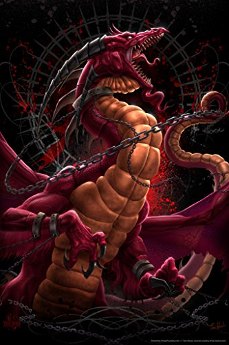 Unleashed Redux Tom Wood Fantasy Art Poster 12x18 (Tom Wood Dragon compare prices)