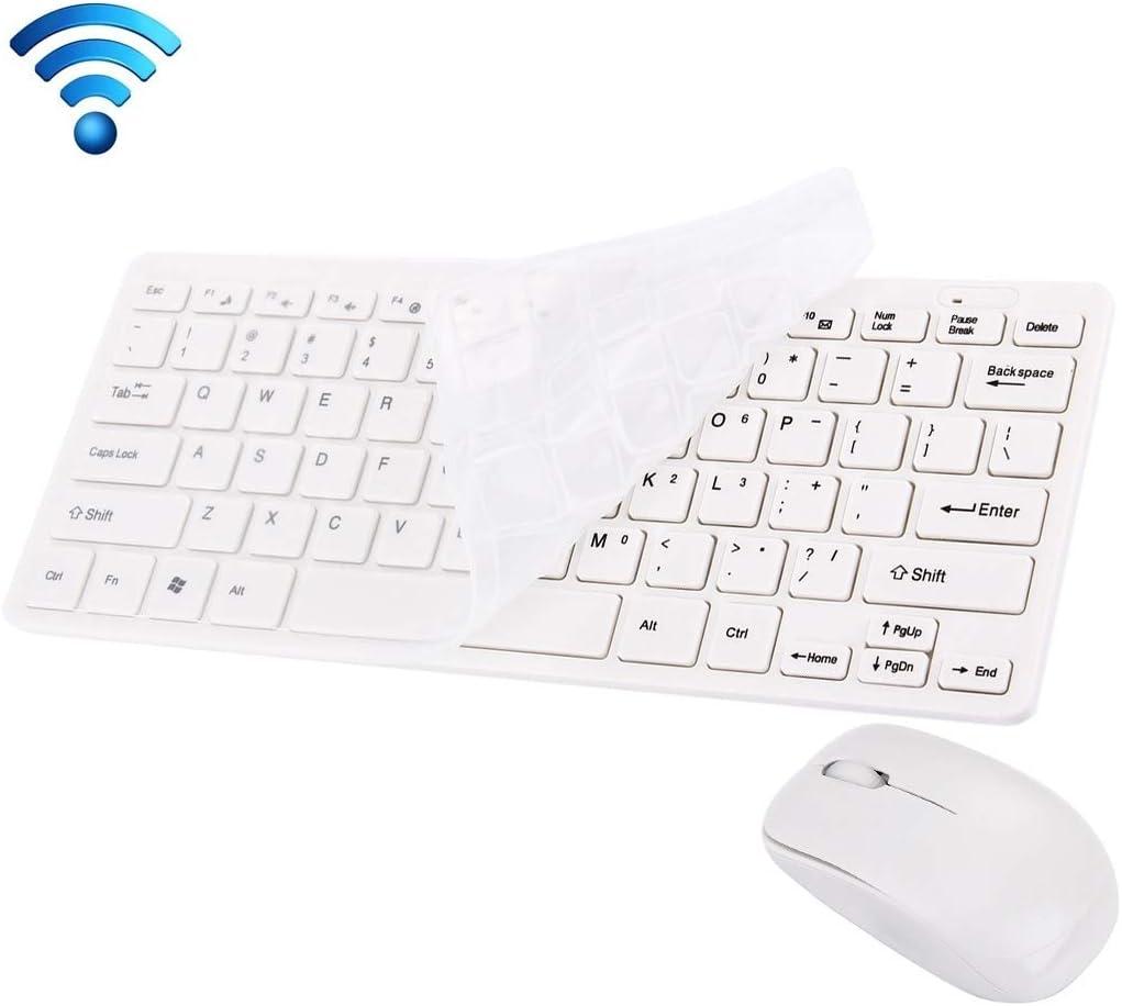 Oficina EN CASA RWJGNX JK-903 de 2,4 GHz Wireless Mini 78 Teclas del Teclado con el Teclado Wireless Optical Mouse + Cubierta con Receptor USB Integrado for Ordenador PC portátil (Negro)