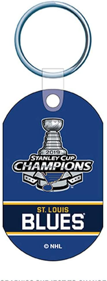 Louis Blues 2019 Stanley Cup Champions Team Colors Aluminum Keychain WinCraft St