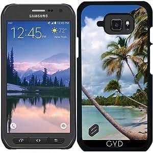 Funda para Samsung Galaxy S6 Active - Palmeras De Coco En La Playa Salvaje by BluedarkArt