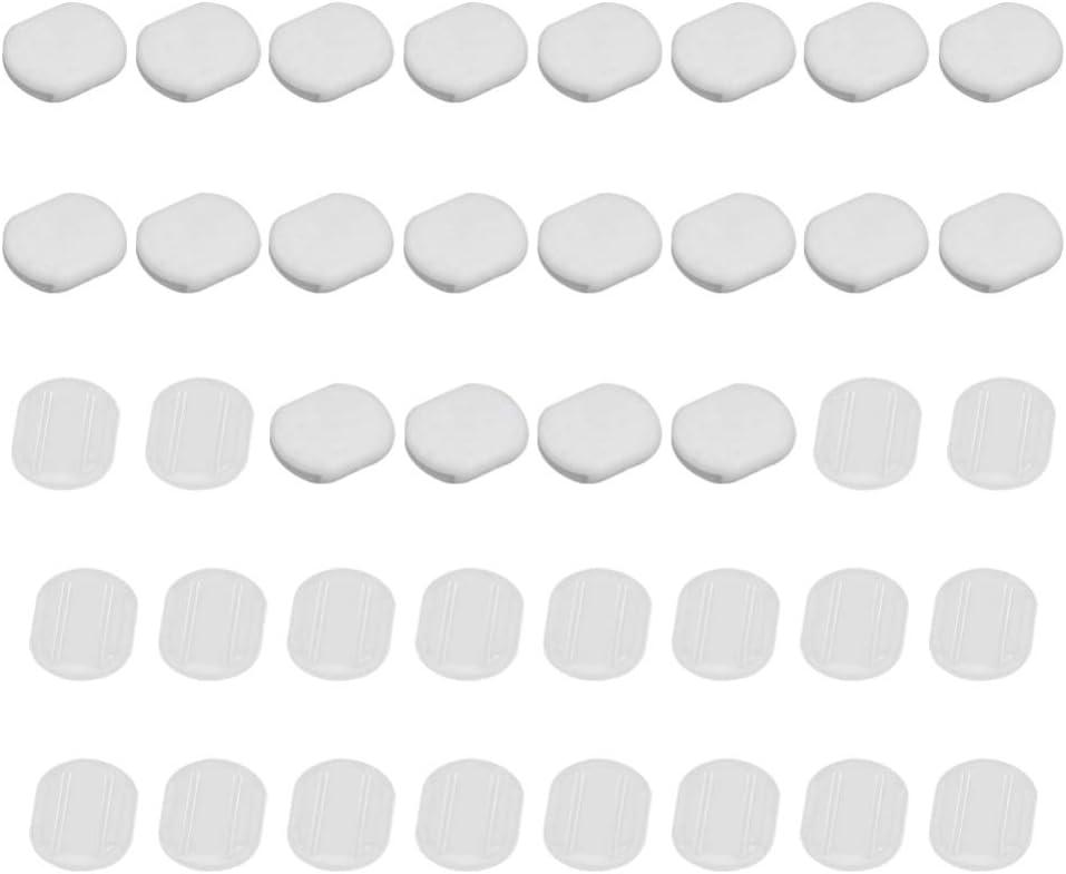 EXCEART 40Pcs Almohadillas para Pendientes Aretes de Silicona Cojín Aretes Protectores Auditivos para Clip en Aretes Accesorios 10. 5X8. 5 Mm