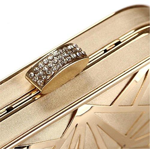 Gold black 10 4cm femmes à mariée robe Mesdames embrayage main de mariage main soirée sacs de robe 16 sac YANX bal qBH4Rp