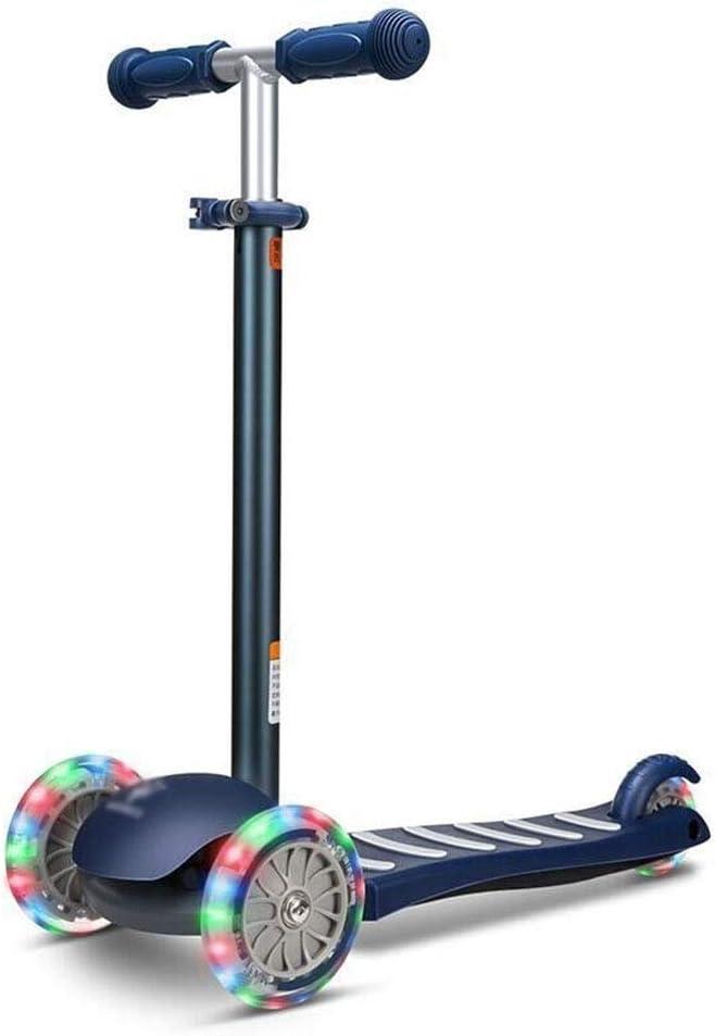 スクーターを蹴る子供たち 子供用スクーター、三輪車、ヨーヨー、滑りやすい (色 : 青) 青