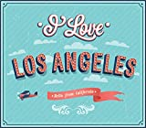 I Love Los Angeles City USA Vintage Label Home Decal Vinyl Sticker 14'' X 12''