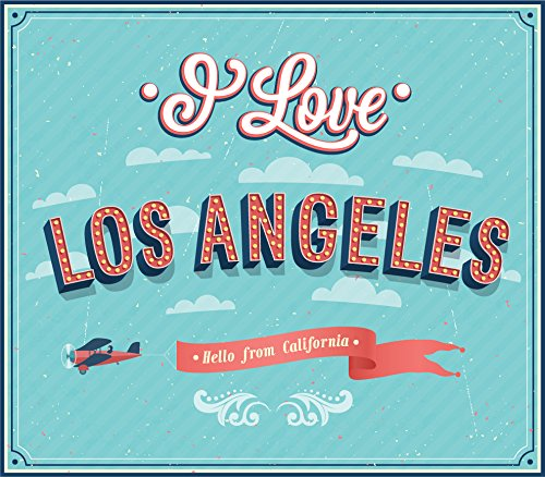 I Love Los Angeles City USA Vintage Label Home Decal Vinyl Sticker 14'' X 12'' by innagrom (Image #1)
