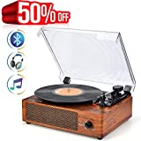 Best Record Player With Vinyls - Record Player Bluetooth Turntable with Built-in Stereo Speakers Review