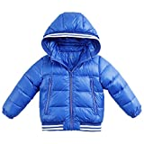 marc janie Boys' Outerwear Thicken Zipper Ultra Light Down Jacket Jewelry Blue 24 Months