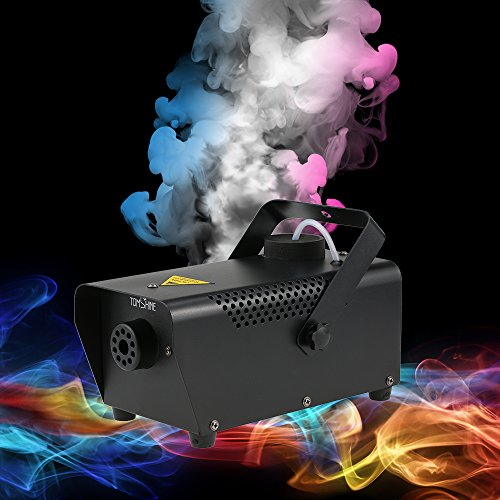 Halloween Party Dj Mix (Tomshine 400W Fog Machine Portable Smoke Machine for Halloween Party Wedding Stage Effect - Aluminum Casing- Wired Remote)