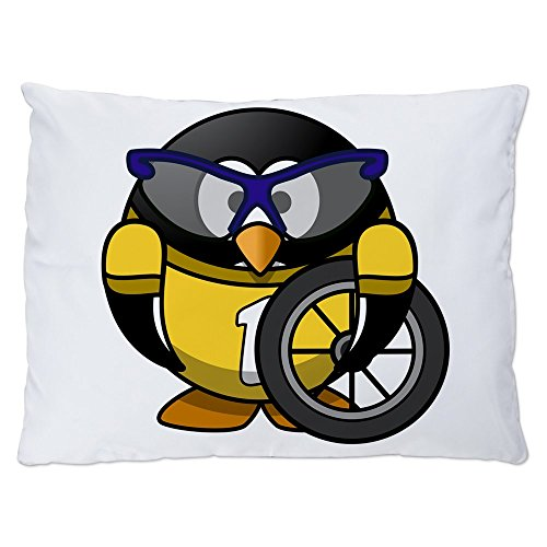 Indoor Luxury Plush Dog Bed Little Round Penguin - Cyclist in Yellow Jersey